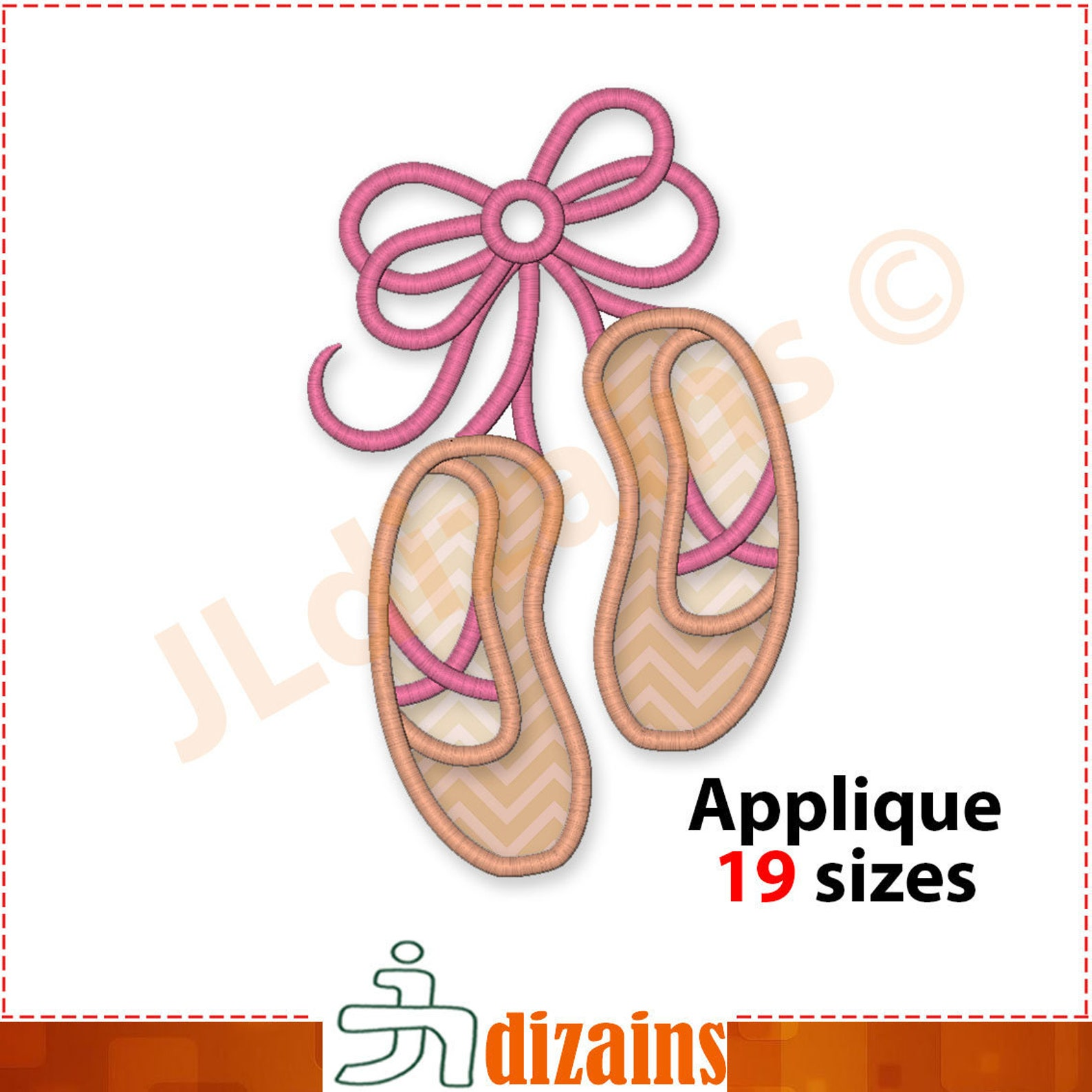 ballet shoes applique embroidery design. ballet slippers embroidery design. ballet applique. ballet embroidery. machine embroide