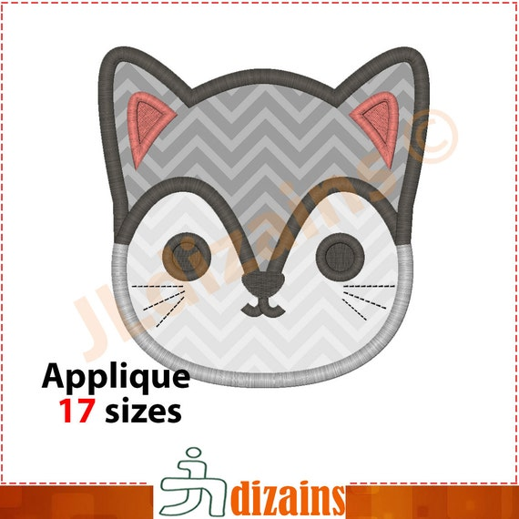 Cat Embroidery Design Cat Applique Design Cat Embroidery Etsy