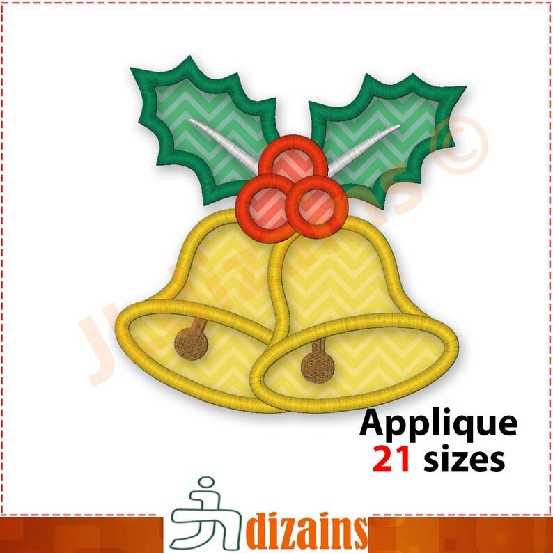 Christmas Bell.Christmas Bells Applique Design Christmas Bell Embroidery Design Bell Applique Embroidery Christmas Bells Machine Embroidery Designs