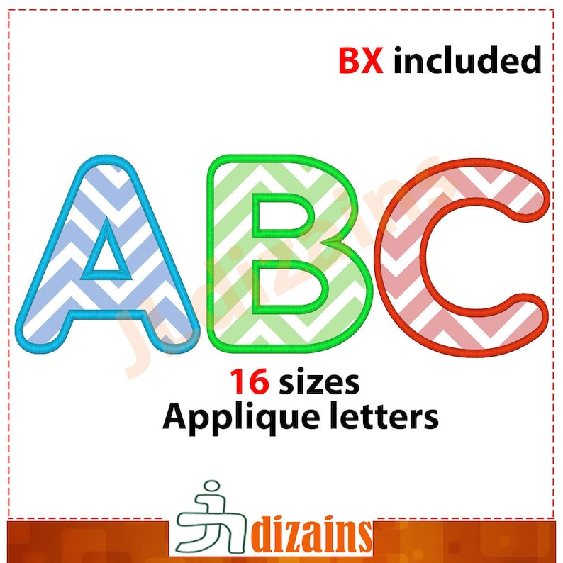 Applique Font Embroidery. Machine embroidery font. Letters image 0