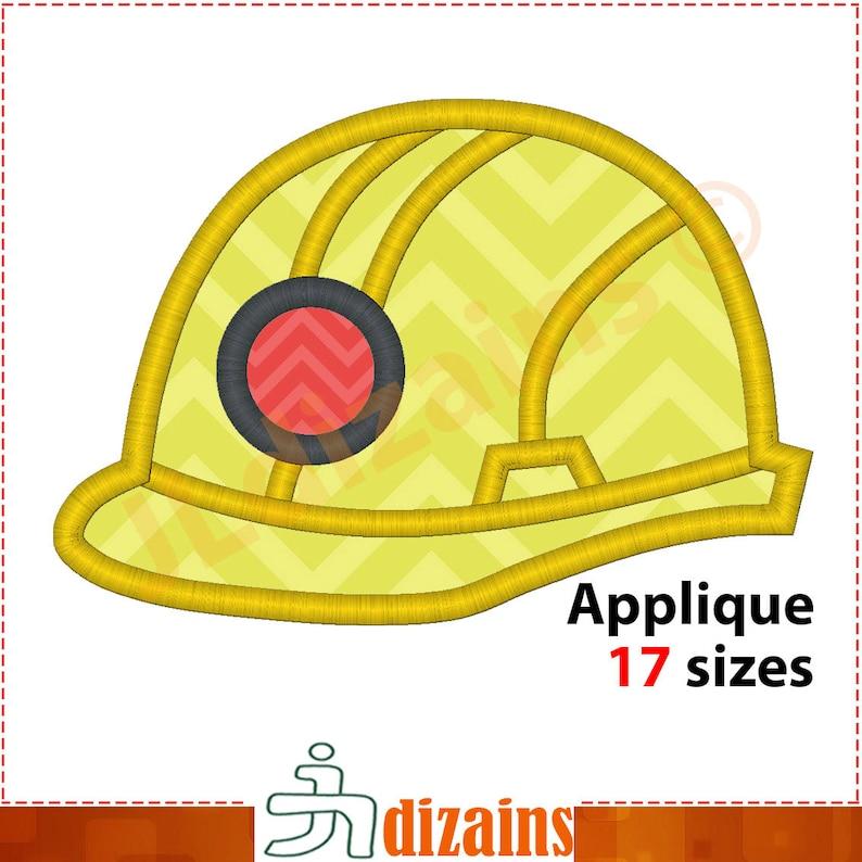 Construction Helmet Applique Design  Hard hat embroidery design   Construction helmet embroidery design  Hard hat  Machine embroidery design
