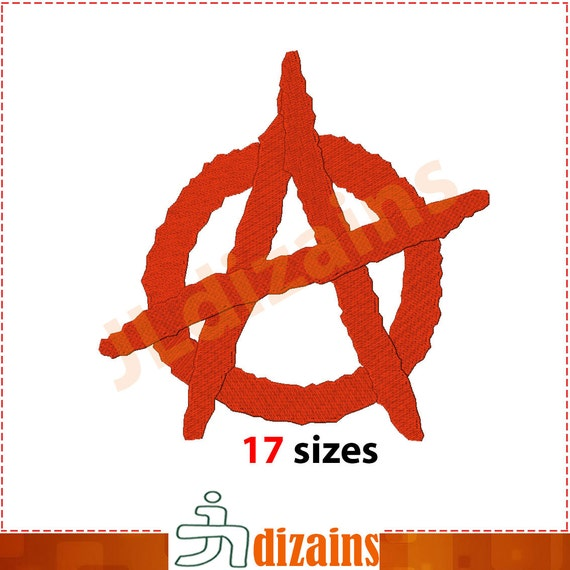 Anarchy Embroidery Design Anarchy Symbol Embroidery Etsy
