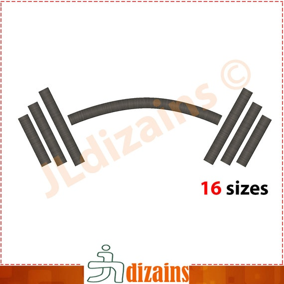 Barbell Embroidery Design Embroidery Designs Barbell Etsy