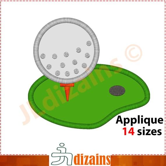 Golf Applique Design Golf Embroidery Design Golf Field Etsy