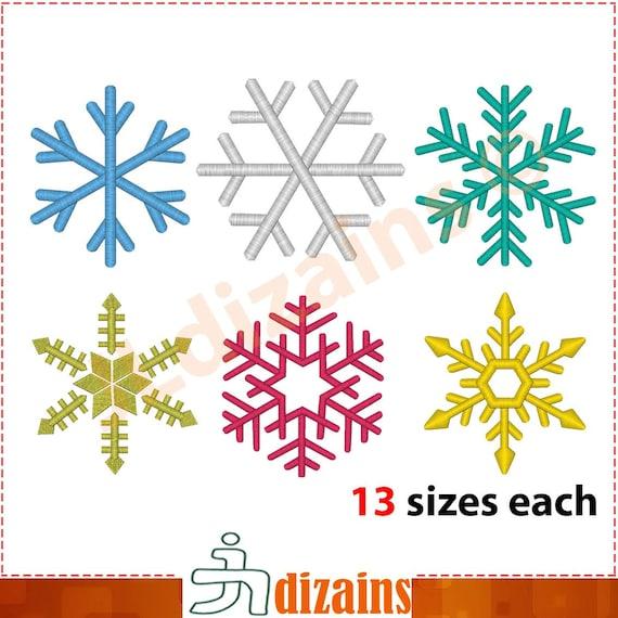 Los copos de nieve conjunto de diseños de bordado de 6 | Etsy