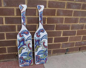 Vera Bradley inspired sorority paddles