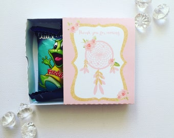 Boho pink matchboxes