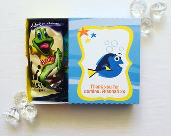 Fishy party matchboxes