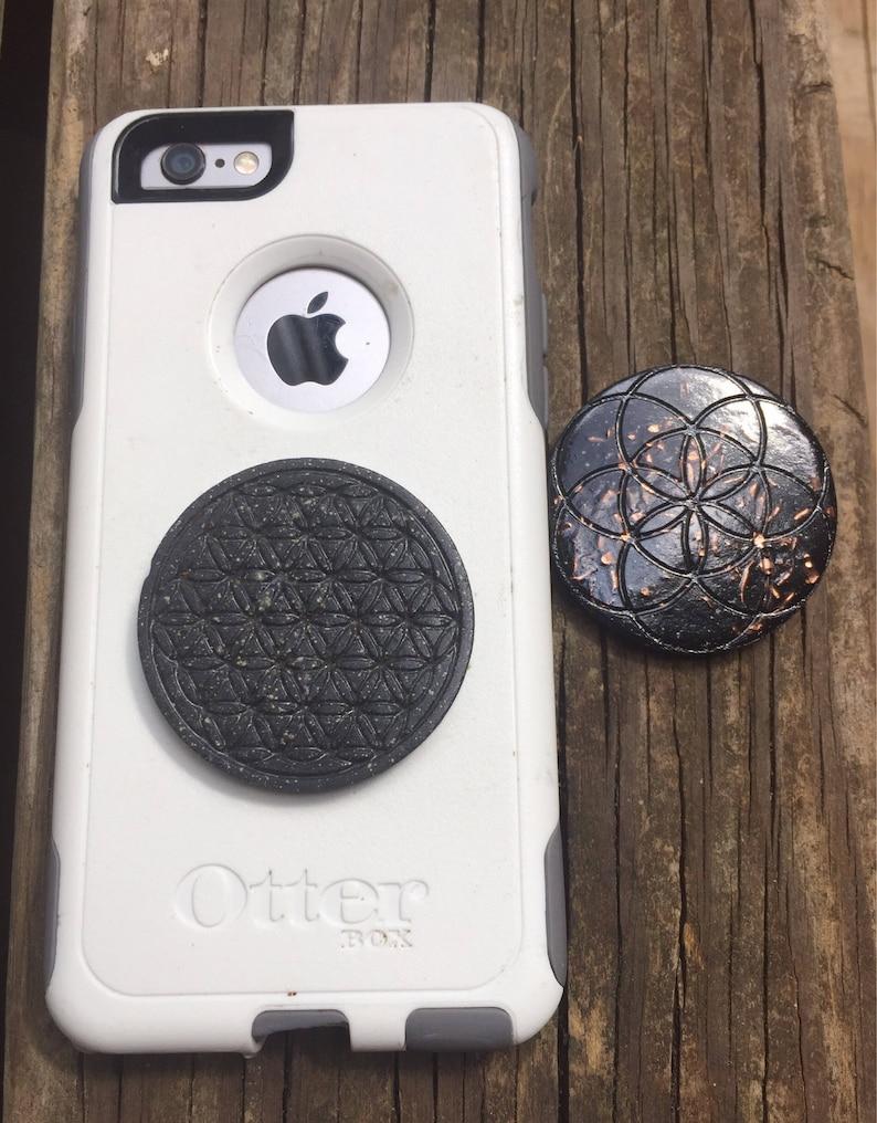 Cell phone Orgonite® Disc - EMF Balance and Protection - Elite Shungite,  Nuummite, Copper, Moldavite, Lepidolite, Organite, Orgone
