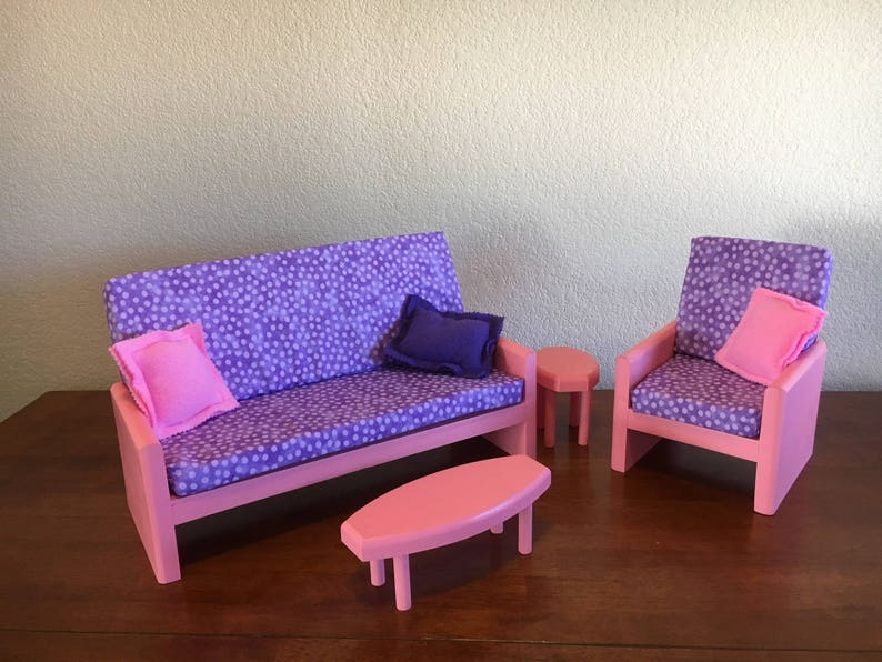 Pink Living Room Ag Doll Furniture 18 In Doll Furniture 18 Living Room 18 Doll Couch Ag Living Room Doll Chair Doll Tables