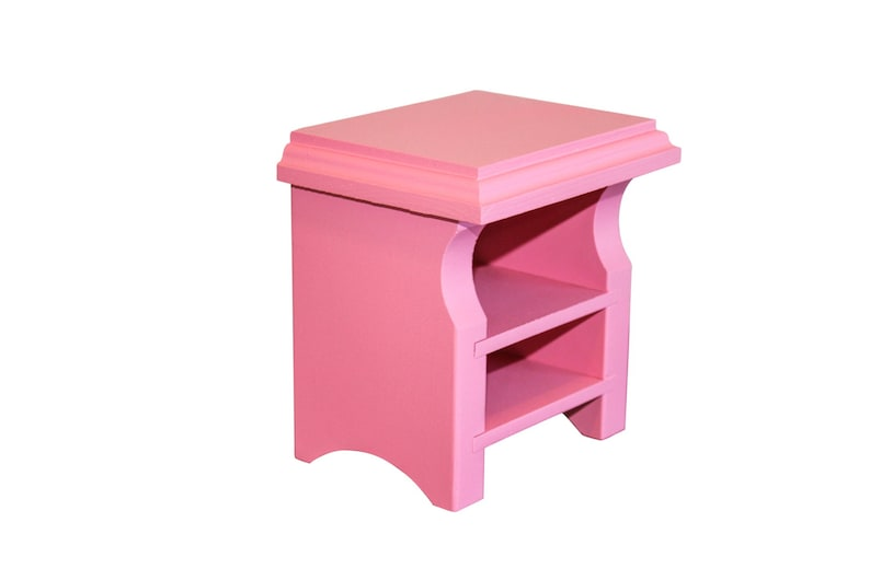 Pink Nightstand Ag Doll Furniture 18 Inch Doll Furniture 18 Doll Nightstand American Girl Nightstand