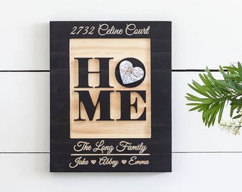 Our New Home Sign, New Home Housewarming gift, New Home Gift, 9x11