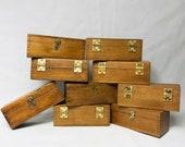 Vintage box, trinket box, old wooden box, antique box, vintage wooden box, old box, desk box, office, desk organiser. vintage gift.