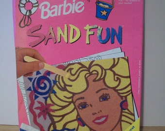 Wonderful Vintage Barbie Sand Fun Activity Set by Colorforms 1994 - Unopened #652