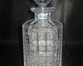 Vintage Baccarat Crystal quot Ardèche quot Whiskey Decanter. 7 LBS. Made in France. Free Expediating Shipping in the U.S