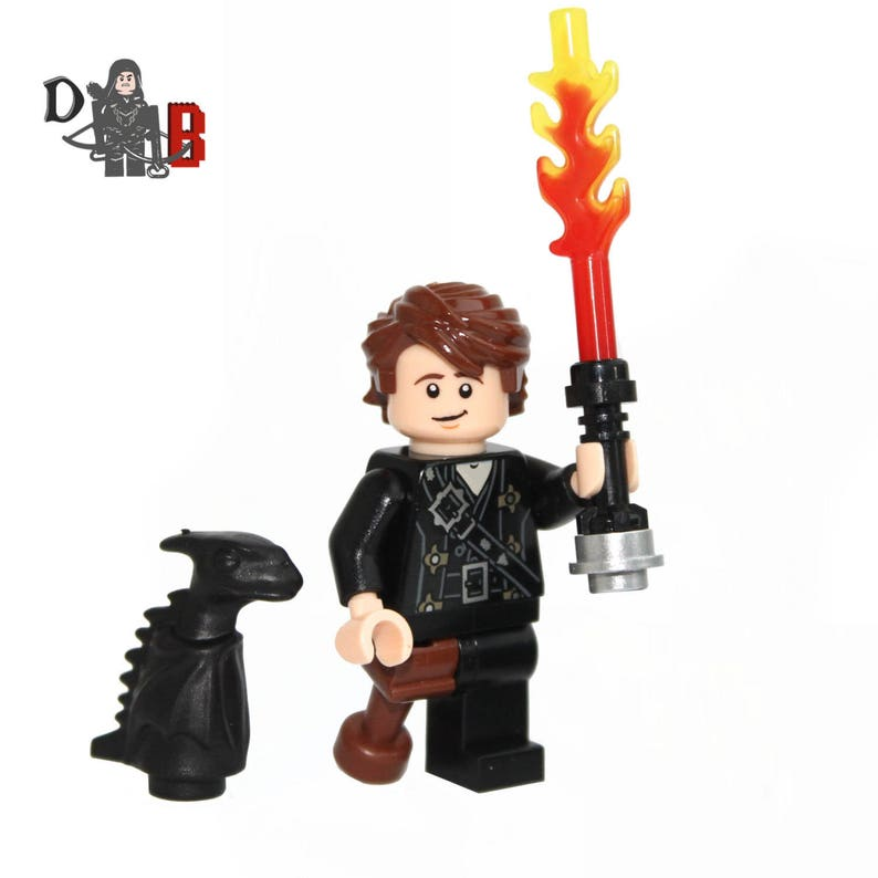 Custom How To Train Your Dragon 2 Hiccup Minifigure And Mini Toothless Made Using Lego Parts