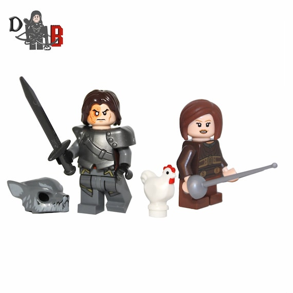 made from Game of Thrones Stark Soldier//Jon Snow Guards Mini Figures