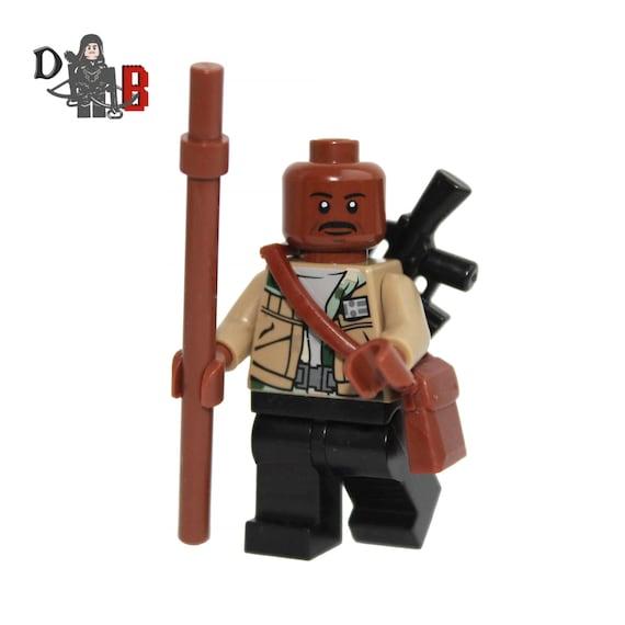 Made using LEGO /& Custom parts. The Walking Dead Morgan Jones Minifigure