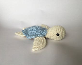 crochet sea turtle, sea turtle toy, crochet toy, stuffed turtle, cute birthday gift, all handmade, ready to order