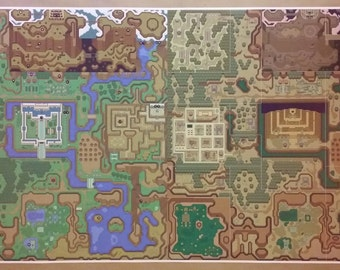 Link To The Past Light World Map.Link To The Past Etsy