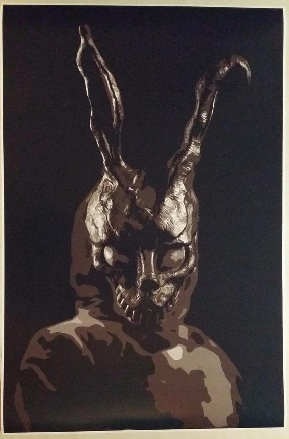 Donnie Darko Movie Poster Frank The Rabbit Theater Digital Etsy