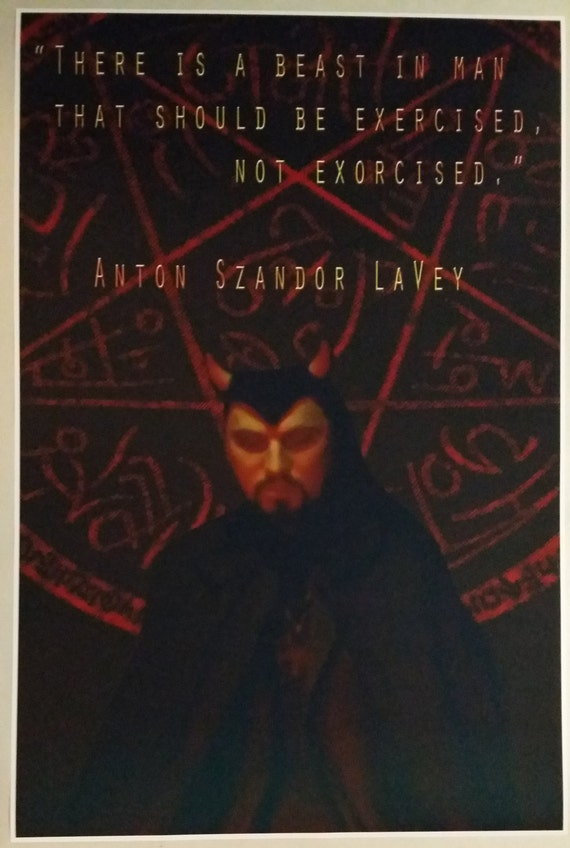 Church of Satan Anton LaVey Quote FULL SIZE 36\