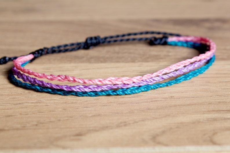 Pastel Bisexual Bracelet bi sexual pride bracelet