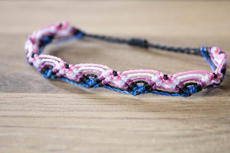Gender fluid zig zag Bracelet or anklet