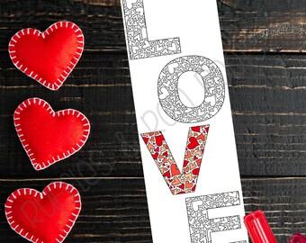 3 Printable Wedding, Valentine Coloring Bookmark, Coloring Bookmarks, Coloring Valentines, Bookmarks for Kids, Wedding Coloring