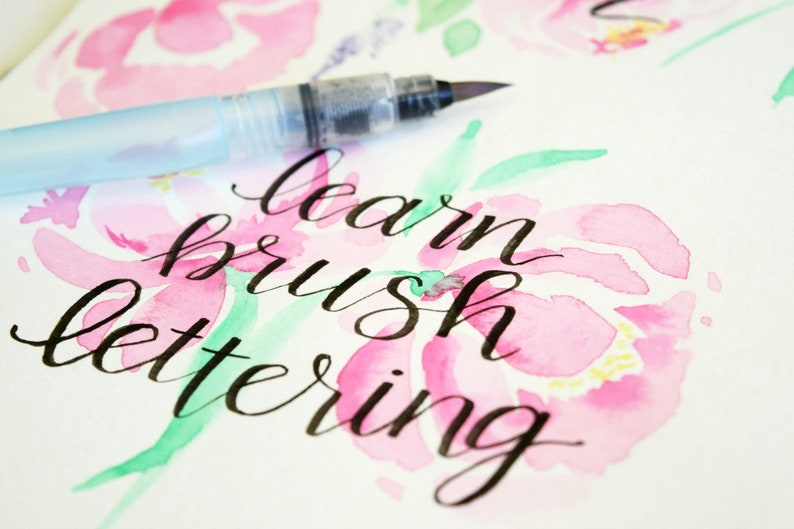 Basic Strokes Practice Sheets for Brush Calligraphy Brush image 0