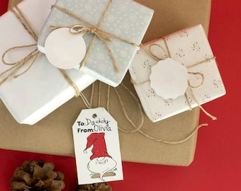 Coloring Page Printable Christmas Gift Tags for Kids and Creative Adults + BONUS! (Instant Download)