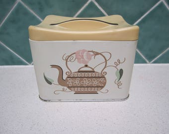 Vintage Willow Canister/Tin - Tea - Coffee - 1960's