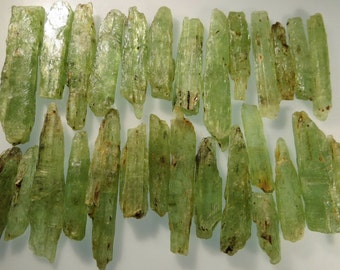 Green Kyanite Natural, Raw By Single Piece or Grams