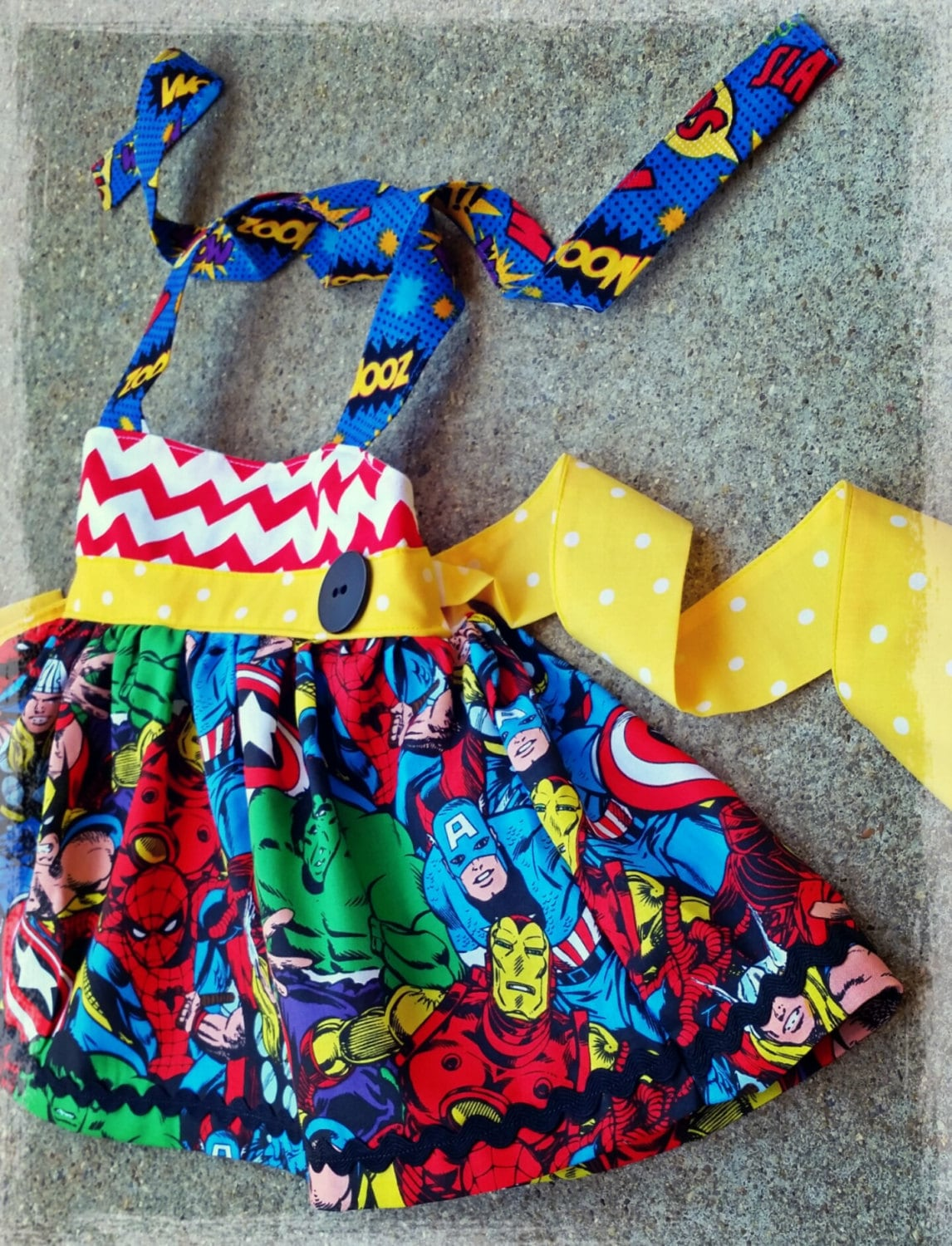 SUPER HERO baby girl dress girls clothing kids clothes ...
