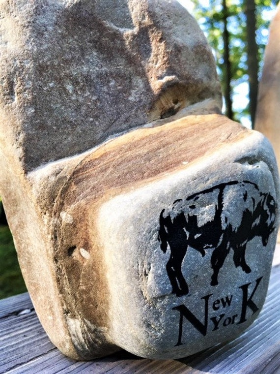 City of Buffalo Latitude /& Longitude Coordinates Engraved Rock~ Great statement for those who love this city!