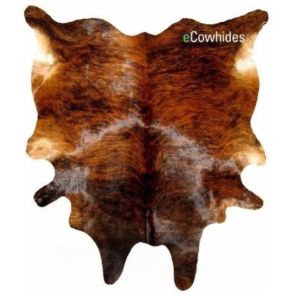 Brindle Cowhide Rug Cow Hide Rugs On Sale Etsy