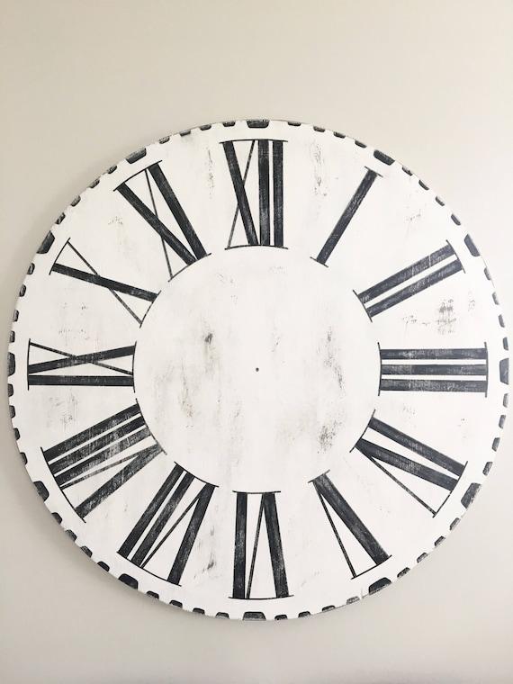 Large Farmhouse Style Wooden Joanna Gaines Clock