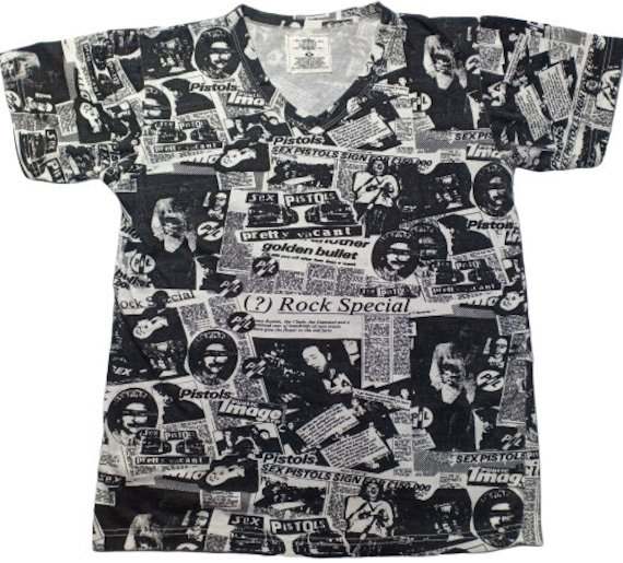 Sex Pistols Band Music Full Print T-Shirt M