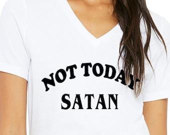 ec24b9b6df Not Today Satan T Shirt, Popular Trending Tee, Unisex Shirt, Funny Graphic