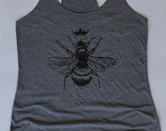 Tank.  Queen Bee Tank Top  - Womens Racerback. Workout.  Running.  Bee