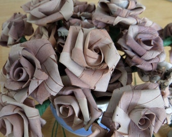 Hand made Birch bark roses