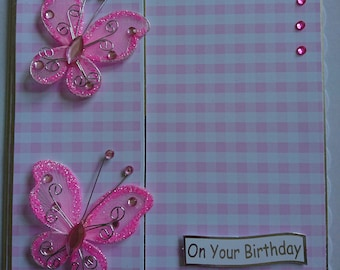 butterfly handmade birthday card