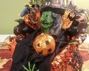 Halloween Witch Lighted Glass Block (Eddie Muenster)