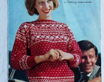 1950's/1960's Knitting Pattern for Scandinavian Sweater