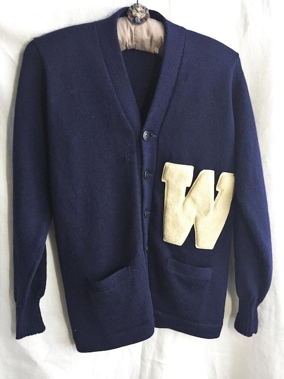 Vintage 40's 50's Letterman Sweater