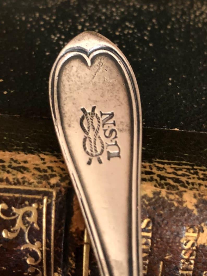 Silver Plate Navy Spoon Vintage U.S