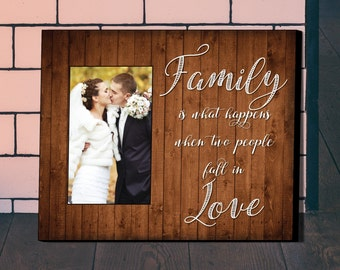 Personalized Picture Frame, Wedding Gift, Anniversary Gift, Family Frame, Personalized Frame