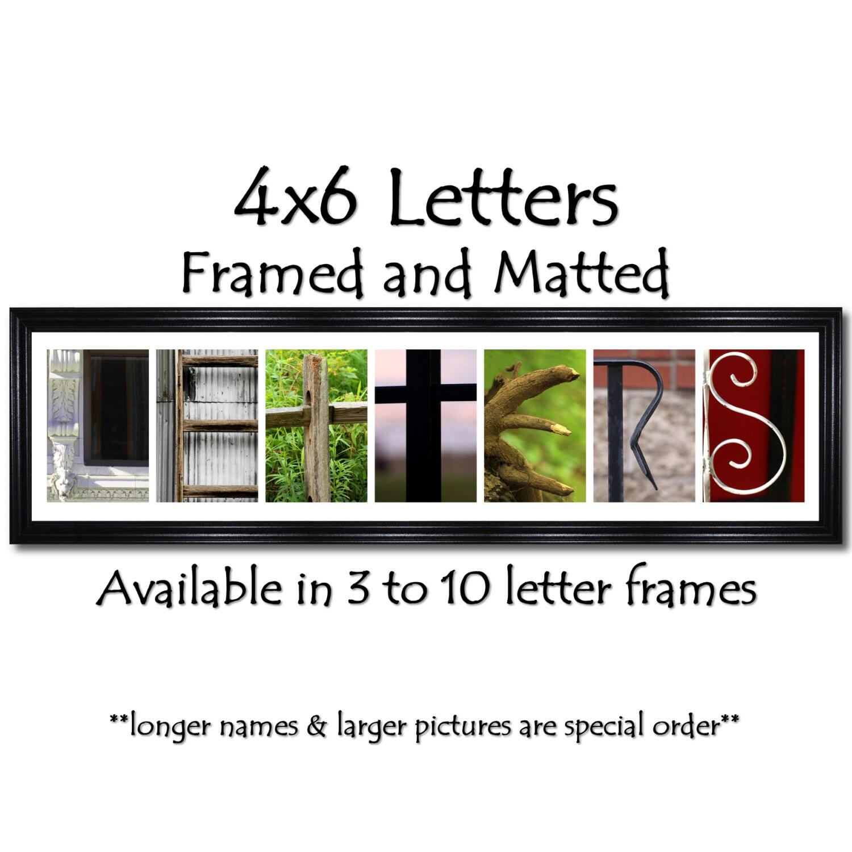 3 Rahmen Öffnung Brief Bilderrahmen Collage Rahmen   Etsy