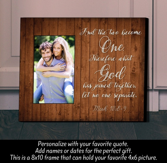 Personalized Picture Frame Unique Wedding Gift Two Become Etsy