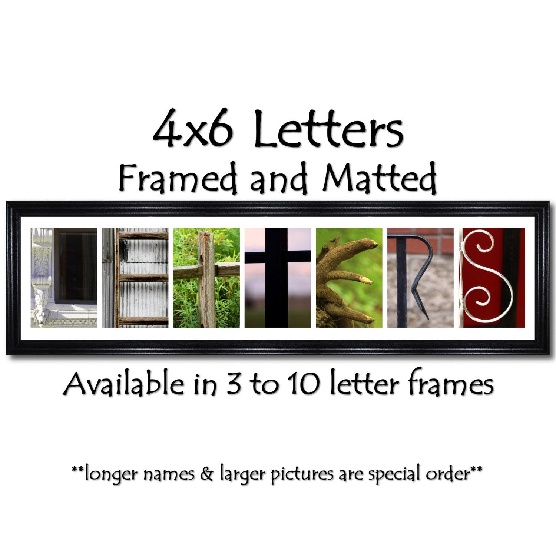 6 Opening Frame, Framed Letter Art, Picture Frame, Collage Frame ...